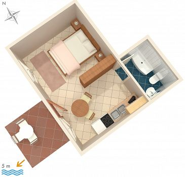 Studio flat AS-2054-a - Apartments Ražanj (Rogoznica) - 2054