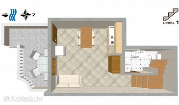 Apartment A-2056-a - Apartments Uvala Tvrdni Dolac (Hvar) - 2056