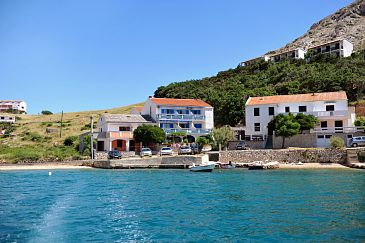 Property Metajna (Pag) - Accommodation 206 - Rooms near sea with sandy beach.