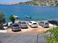 Parking lot Metajna (Pag) - Accommodation 206 - Rooms near sea with sandy beach.