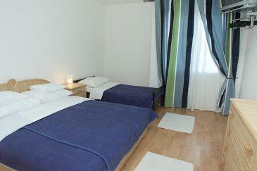 Uvala Pokrivenik, Sypialnia w zakwaterowaniu typu room, dostupna klima i dopusteni kucni ljubimci.