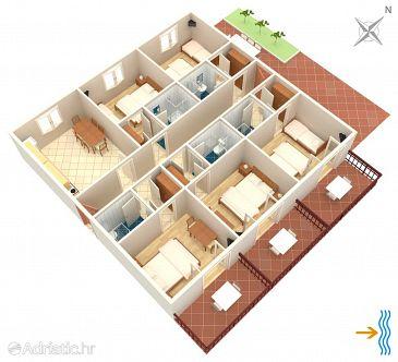 Apartment A-2073-a - Apartments Uvala Pokrivenik (Hvar) - 2073