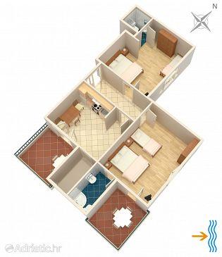 Apartament A-2073-b - Apartamenty Uvala Pokrivenik (Hvar) - 2073