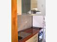 Uvala Pokrivenik, Kitchen u smještaju tipa apartment, dostupna klima i dopusteni kucni ljubimci.