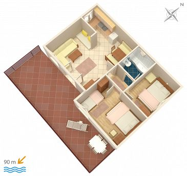 Apartament A-2076-c - Apartamenty Rastići (Čiovo) - 2076