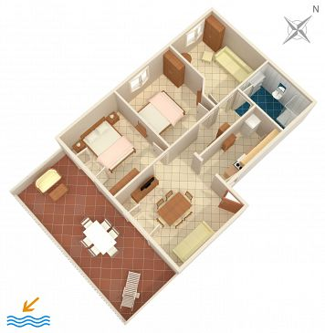 Apartament A-2078-b - Apartamenty Rastići (Čiovo) - 2078
