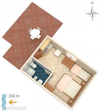 Studio flat AS-208-b - Apartments Metajna (Pag) - 208