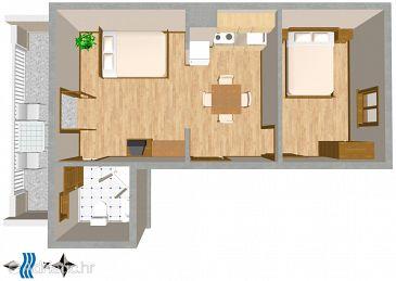Mastrinka, Plan u smještaju tipa apartment, WIFI.
