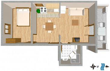 Apartament A-2084-b - Apartamenty Mastrinka (Čiovo) - 2084