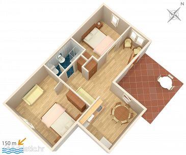 Podstrana, Plan u smještaju tipa apartment, WIFI.