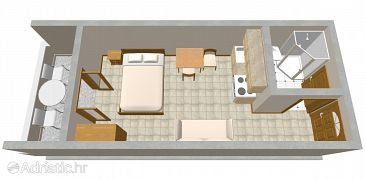 Studio flat AS-2100-a - Apartments Ražanj (Rogoznica) - 2100