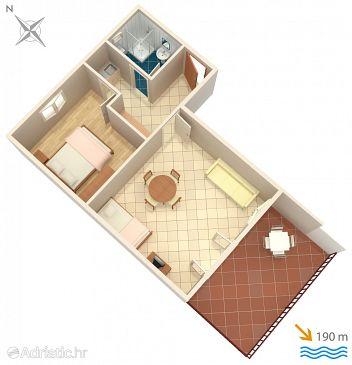 Rastići, Plan u smještaju tipa apartment, WIFI.