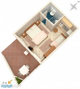 Studio flat AS-2138-a - Apartments Molunat (Dubrovnik) - 2138