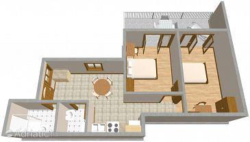 Dubrovnik, Plan u smještaju tipa apartment, WIFI.