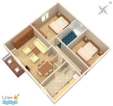 Apartment A-2177-a - Apartments Orašac (Dubrovnik) - 2177