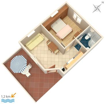 Apartment A-2177-e - Apartments Orašac (Dubrovnik) - 2177