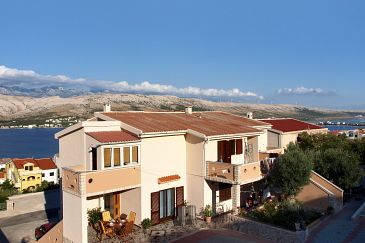 Property Pag (Pag) - Accommodation 220 - Apartments with sandy beach.