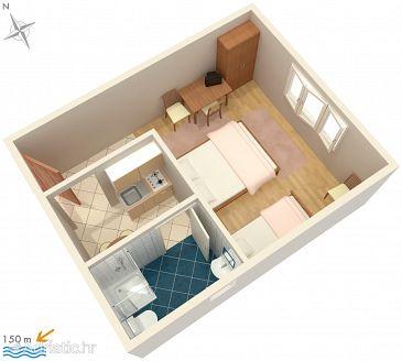 Fažana, Plan u smještaju tipa studio-apartment, WIFI.