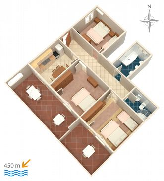 Apartament A-2348-a - Apartamenty Novi Vinodolski (Novi Vinodolski) - 2348