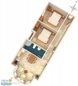 Selce, Plan u smještaju tipa apartment, WIFI.