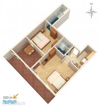 Dramalj, Plan u smještaju tipa apartment, WIFI.