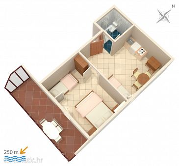 Apartment A-2383-f - Apartments Selce (Crikvenica) - 2383