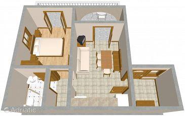 Povile, Plan u smještaju tipa apartment, WIFI.