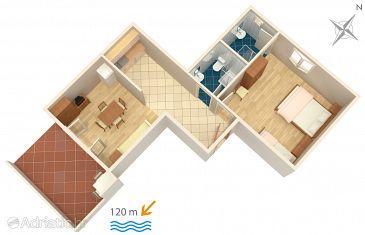 Apartment A-240-d - Apartments Zubovići (Pag) - 240