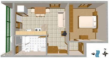 Apartment A-2412-b - Apartments Vis (Vis) - 2412