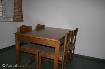 Novi Vinodolski, Dining room u smještaju tipa apartment.