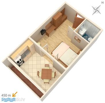 Studio flat AS-244-a - Apartments Povljana (Pag) - 244