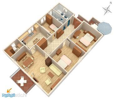 Apartment A-2487-b - Apartments Mali Lošinj (Lošinj) - 2487