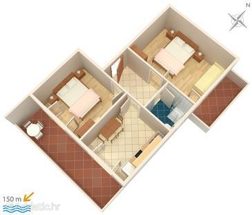 Mali Lošinj, Plan kwatery u smještaju tipa apartment, WIFI.