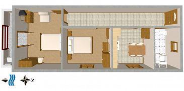 Apartament A-2538-a - Kwatery Novigrad (Novigrad) - 2538
