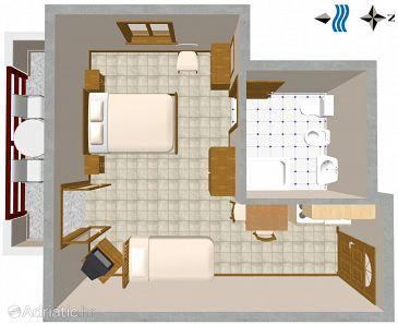 Studio flat AS-2538-a - Apartments and Rooms Novigrad (Novigrad) - 2538