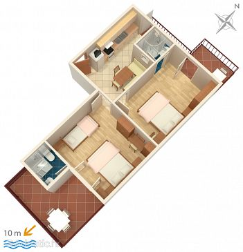 Apartment A-2573-b - Apartments Podgora (Makarska) - 2573