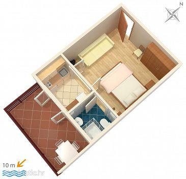 Studio flat AS-2573-c - Apartments Podgora (Makarska) - 2573
