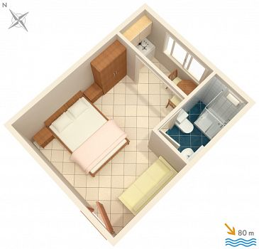 Studio AS-2575-c - Apartamenty Podaca (Makarska) - 2575
