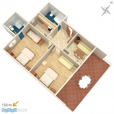 Apartment A-2576-a - Apartments Podaca (Makarska) - 2576