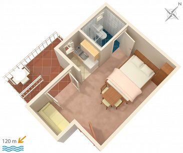 Studio AS-2579-a - Apartamenty Podaca (Makarska) - 2579