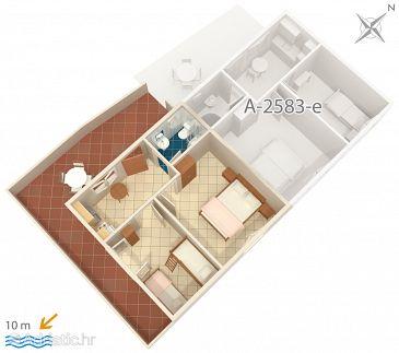 Apartment A-2583-f - Apartments Uvala Jedra (Hvar) - 2583