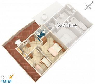 Apartament A-2583-f - Apartamenty Uvala Jedra (Hvar) - 2583