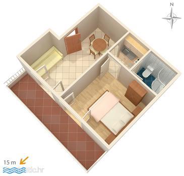 Apartment A-2592-a - Apartments Promajna (Makarska) - 2592