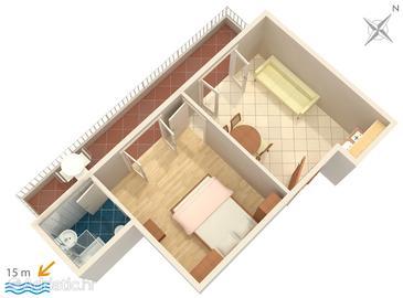 Apartment A-2592-c - Apartments Promajna (Makarska) - 2592