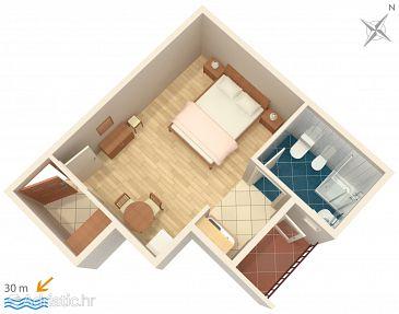 Studio flat AS-2601-c - Apartments and Rooms Podgora (Makarska) - 2601