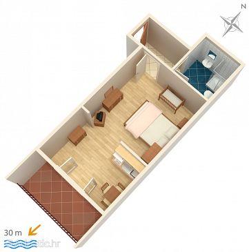 Studio flat AS-2601-j - Apartments and Rooms Podgora (Makarska) - 2601