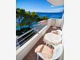 Promajna, Balcony u smještaju tipa apartment, s pogledom na more i WIFI.