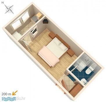 Garsonieră AS-2613-a - Apartamente și camere Podaca (Makarska) - 2613