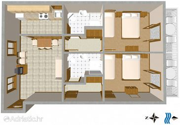 Apartment A-2616-a - Apartments and Rooms Podgora (Makarska) - 2616