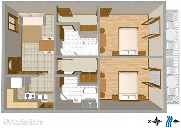 Apartment A-2616-b - Apartments and Rooms Podgora (Makarska) - 2616